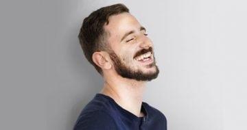 Smiling happy man